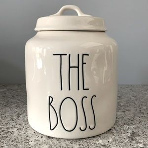 Rae Dunn THE BOSS Pet Food Canister